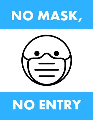 No Mask No Entry Flyer