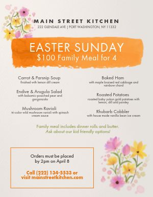 Easter Paint Menu