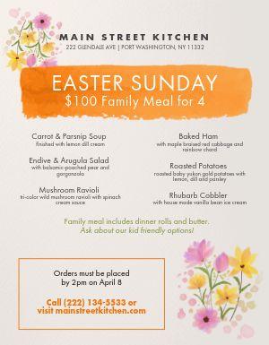 Easter Paint Menu