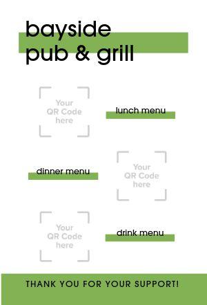 QR Codes Tent Card