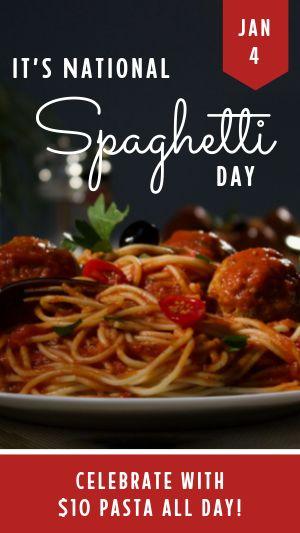 Spaghetti Day Instagram Story
