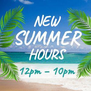 Summer Hours Instagram Post
