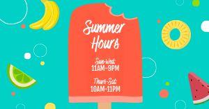 Summer Hours Facebook Update