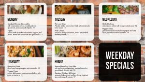 Brick Daily Specials Digital Menu Board