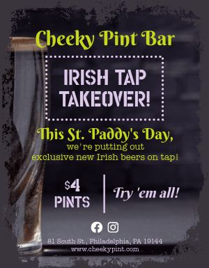 St Patricks Tap Flyer
