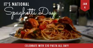 Spaghetti Day Facebook Post