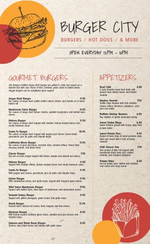 Burger Menu Example