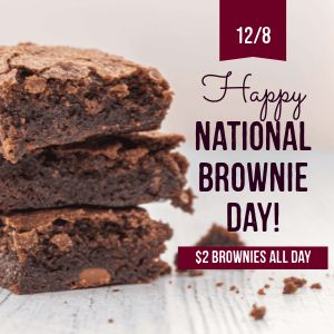 Brownie Day Instagram Post