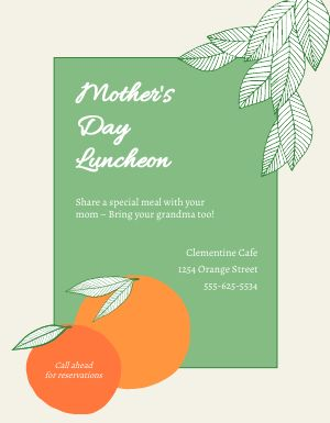 Mothers Day Luncheon Flyer