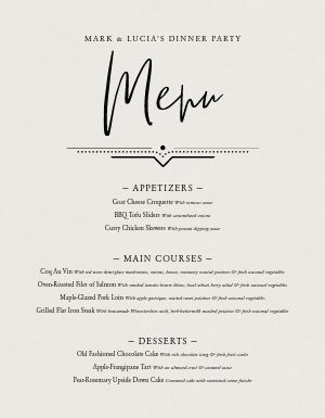 Simple Party Menu