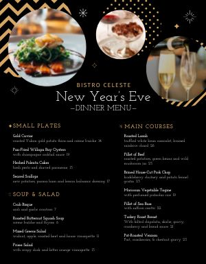 New Years Bistro Menu