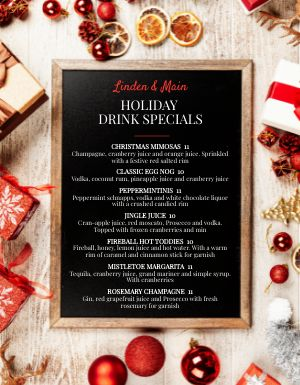 Jolly Christmas Menu