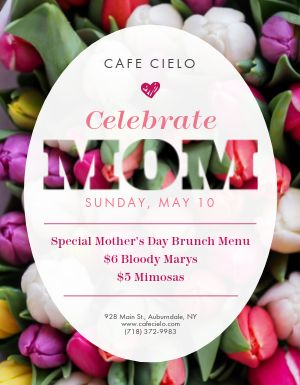 Mothers Day Mom Flyer