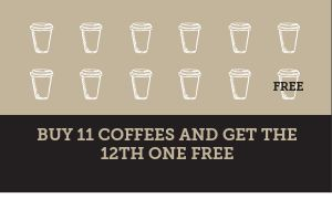 Coffee Hut Loyalty Card