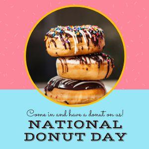 Donut Day Instagram Post