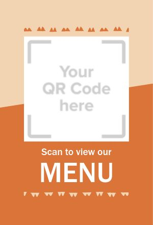 QR Code Table Placard