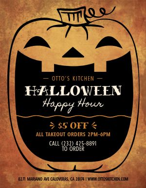 Halloween Happy Hour Announcement