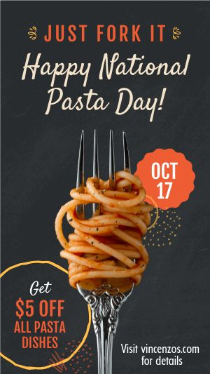 Pasta Day Facebook Story