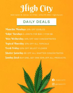 Dispensary Deals Signage