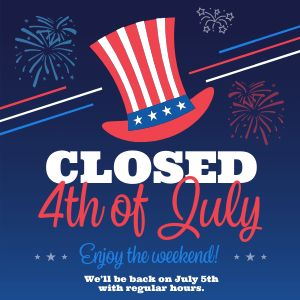 Closed July Fourth Instagram Post