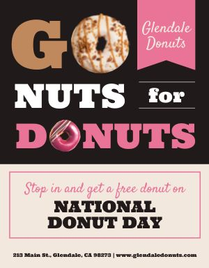 Donut Day Event Flyer