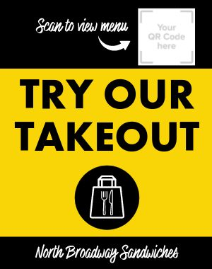 Takeout Menu Sandwich Board