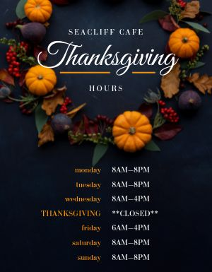 Thanksgiving Calendar Flyer