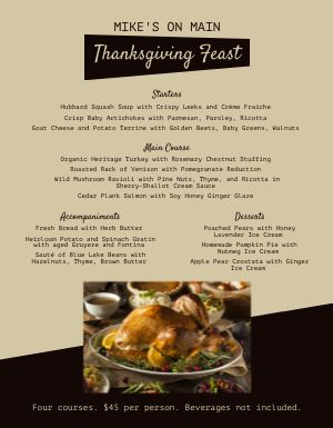 Thanksgiving Family Feast Menu