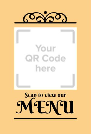 Menu Table Placard