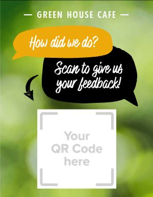 Feedback QR Code Sign