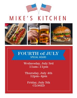 Fourth of July Food Flyer