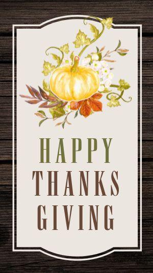 Happy Thanksgiving Instagram Story