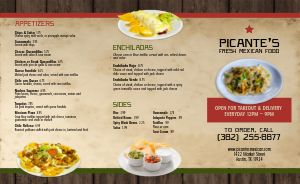 Fresh Mexican Takeout Menu