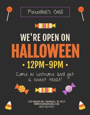 Halloween Treats Sign