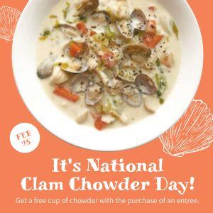 Clam Chowder Instagram Update