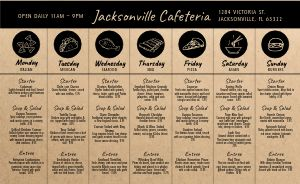 Example Daily Specials Menu