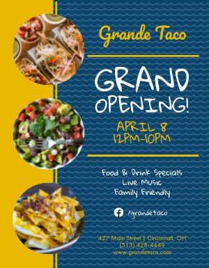 Mexican Grand Opening Flyer