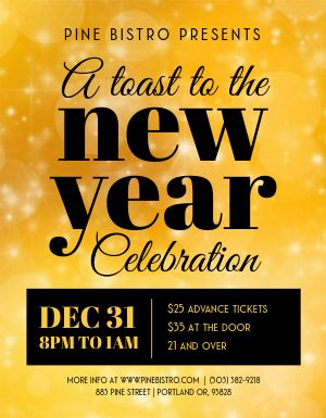 New Years Eve Toast Flyer