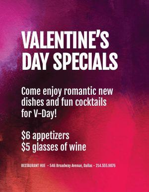 Valentines Specials Flyer