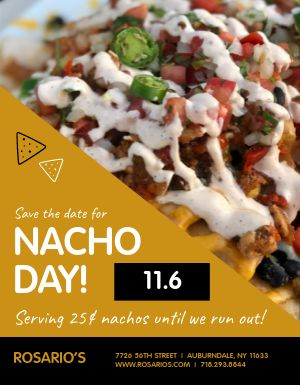 Nacho Day Specials Flyer