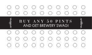 Beer Pints Loyalty Card