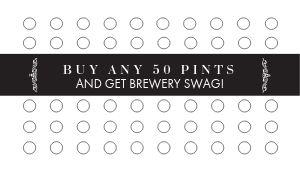 Beer Pints Loyalty Card