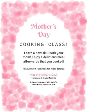 Mothers Day Activity Flyer