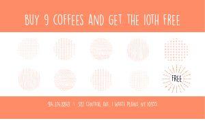 Orange Coffee Loyalty Card