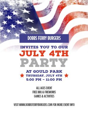 Fourth of July Flag Flyer