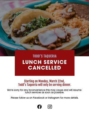 Lunch Canceled Flyer