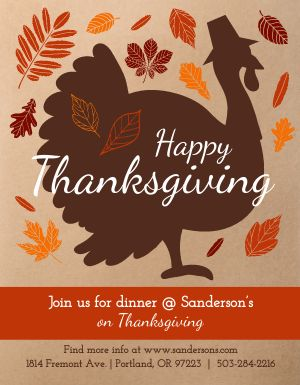 Thanksgiving Turkey Dinner Flyer