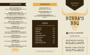 BBQ Ribs Takeout Menu