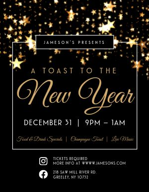 Sparkling New Years Eve Flyer