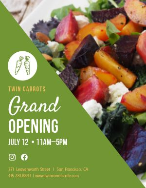 Grand Opening Salad Flyer